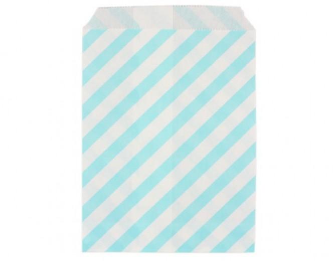 Бумажные пакеты Райе голубые