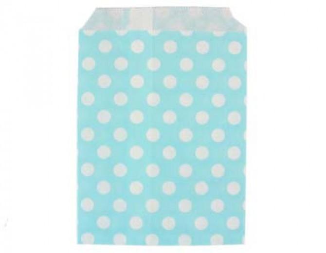 Бумажные пакеты Горох голубые