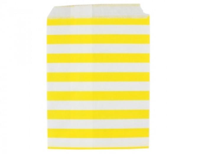 Бумажные пакеты Полоски желтые