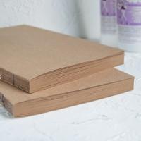 Блоки для блокнотов А5 крафт ручной работы