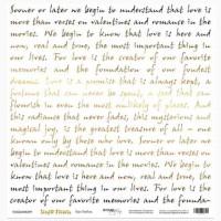 """Лист односторонней бумаги с фольгированием 30х30 """"Про любовь"""" Simple Flowers от Scrapmir"""