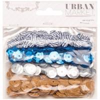 Набор пайеток URBAN MARKET 4 цвета по 200 шт