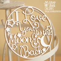 "Чипборд надпись ""I love you to the moon and back"" в круге Hi-249"