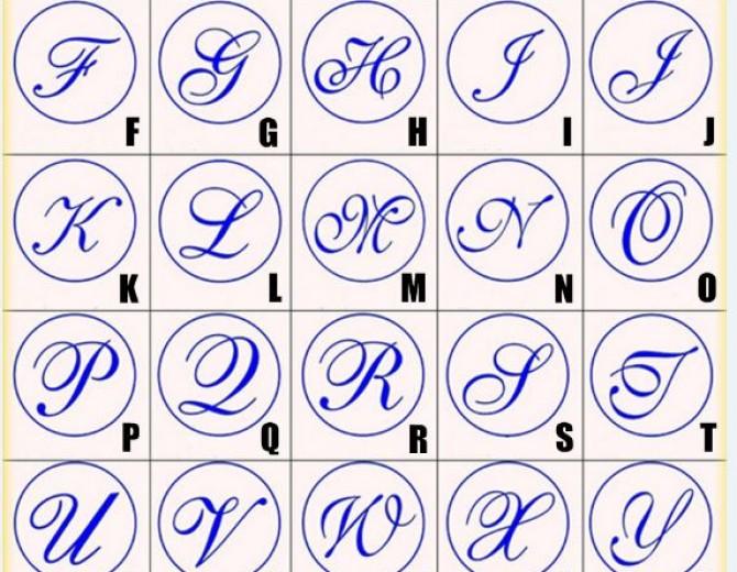 """Сургучная печать """"Каллиграфия"""" буквы в ассортименте."""