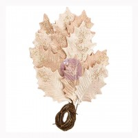 Листья бумажные Glittered Leaf Stems-Touch Of Rose от Prima Marketing