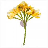 Цветы Flower Bundles-Yellow от Prima Marketing
