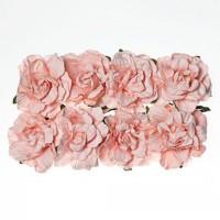 Гвоздики из бумаги Нежно-розовые, 8 шт