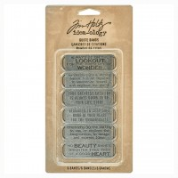 Набор металлических украшений Quote Bands Idea-ology от Tim Holtz