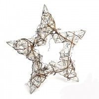 Декоративная звезда с глиттером 25 см