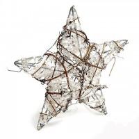 Декоративная звезда новогодняя с глиттером 25 см