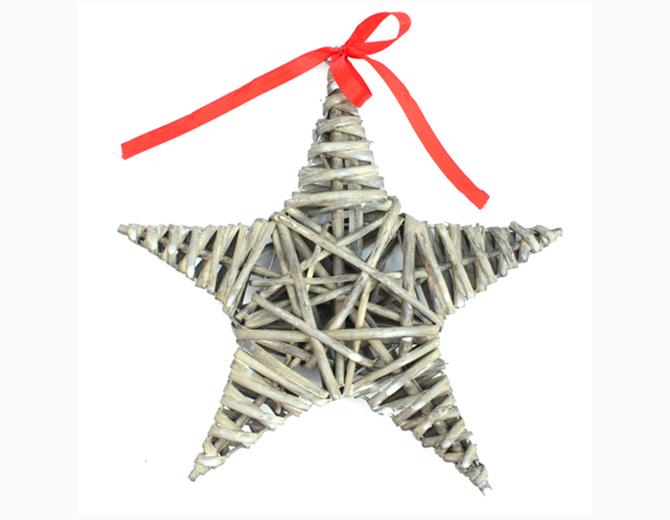 Звезда из ивовых прутьев 20 см