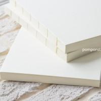 Блоки для блокнотов А5 ручной работы ВАНИЛЬ