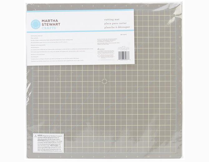 Коврик для резки Martha Stewart серый 36х36см