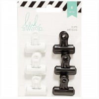 Набор зажимов Bulldog Clips Black/White от Heidi Swapp