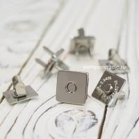 Кнопка магнитная 14 мм квадратная