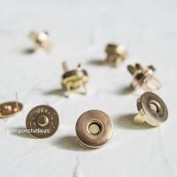Кнопка магнитная 14 мм круглая (золото)
