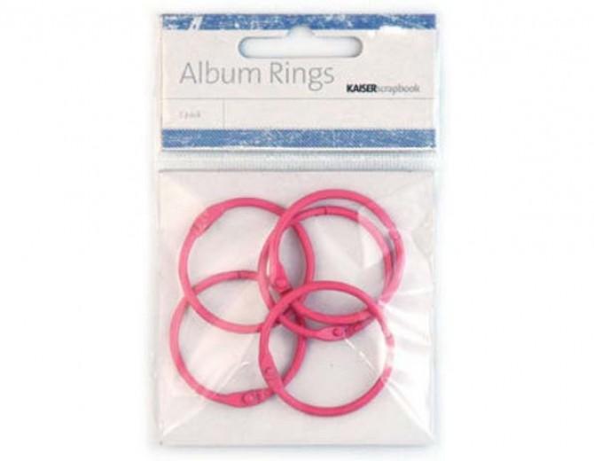 Набор разьемных колец для альбомов 3,5см розовый