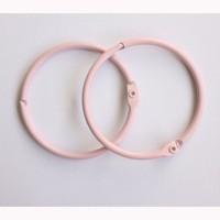 Кольца для альбомов 50мм розовые