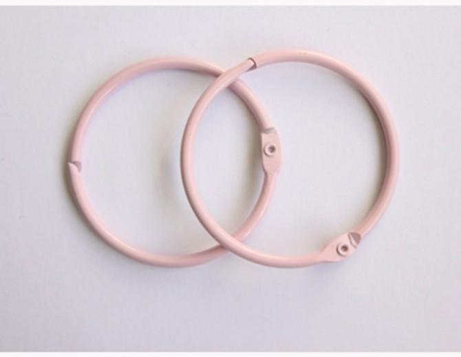 Кольца для альбомов 35мм розовые