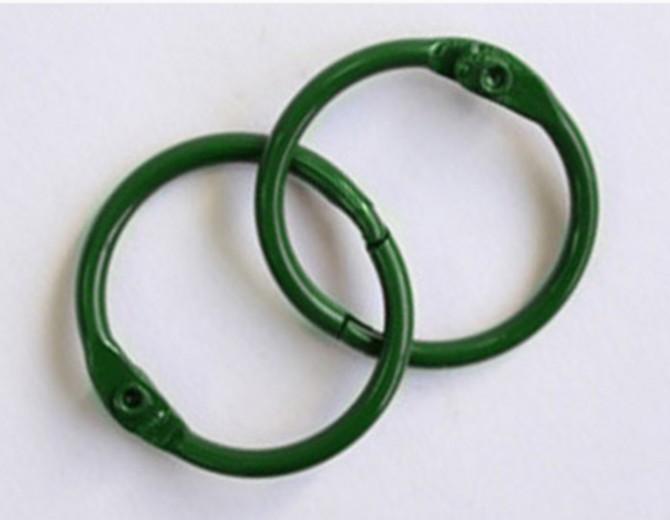 Кольца для альбомов 35мм зеленые