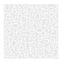"Лист оверлея DIY Shop 4 Specialty Cardstock 12""X12"" White Numbers On Acetate"