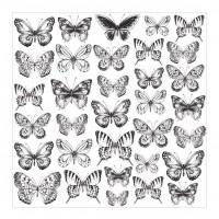 "Лист оверлея Butterflies Romantique Acetate 12""X12"" от Kaisercraft"