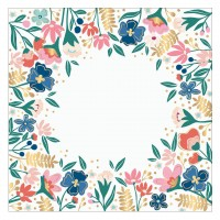 "Лист оверлея Paige Evans Pick Me Up Acetate 12""X12"" Floral W/Gold Foil"
