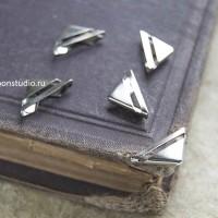 Уголки для блокнотов 16мм серебро (4шт)