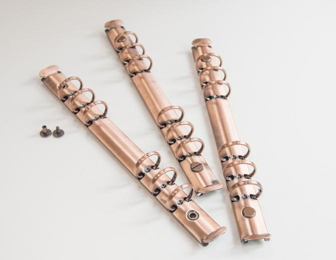 Кольцевой механизм на 6 колец А5 медь