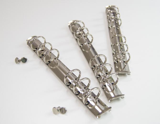 Кольцевой механизм на 6 колец А6 серебро