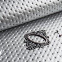 Кожзам РОСКОШЬ серебро (перламутр)