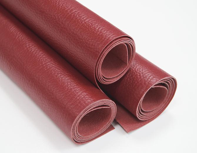 Кожзам переплетный красный с тиснением под кожу