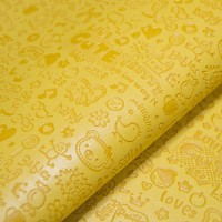 Кожзам МУЛЬТИК желтый с тиснением