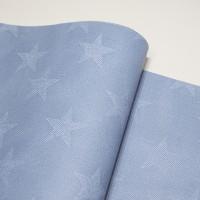 Кожзам ЗВЕЗДЫ голубые с фактурой под джинсу