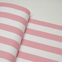 Кожзам ПОЛОСКА 35х45см розовая широкая с тиснением под лён