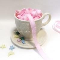 Резинка декоративная с рюшами (розовая)