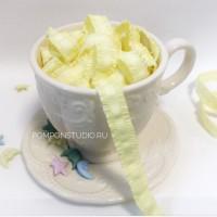 Резинка декоративная с рюшами (светло-желтая)