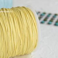 Шнур вощеный желтый 3м