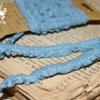 Резинка-рюшь для альбомов и блокнотов (голубая) 2 м