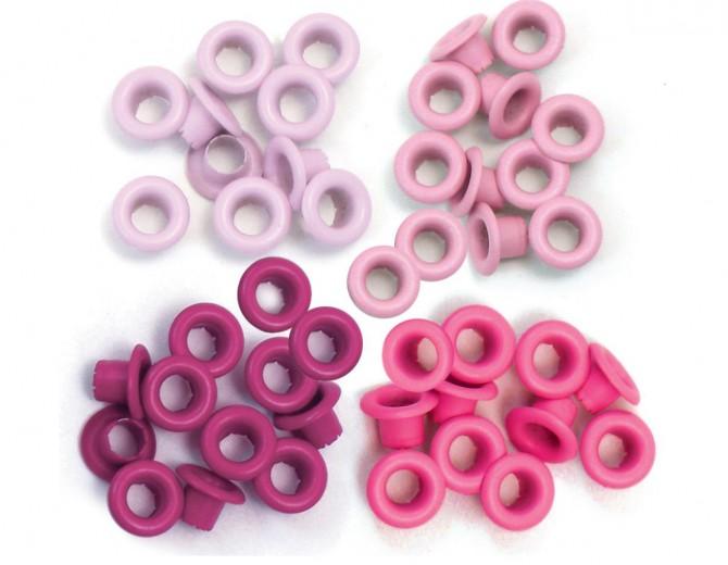 Люверсы стандартные  Pink-Eyelets Standard от We R Memory Keepers