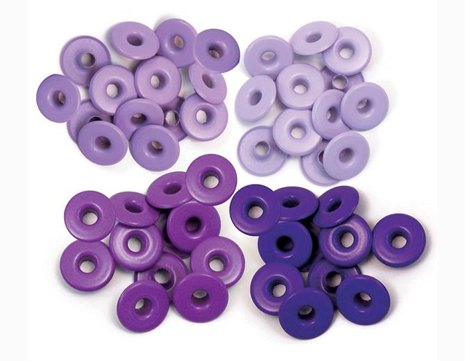 Люверсы широкие Purple-Eyelets Wide от We R Memory Keepers