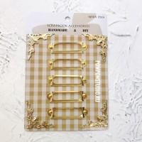 Рамки металлические для скрапбукинга золото (набор с уголками)