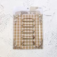 Рамки металлические для скрапбукинга серебро (набор с уголками)