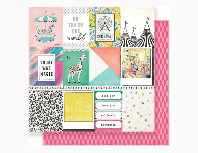 """Лист двусторонней бумаги Carnival Carousel  12""""X12"""" от Maggie Holmes"""