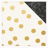 """Лист двусторонней бумаги с фольгированием Beautiful Gold Foiled Fabulous Adventure 12""""X12"""" от Simple Stories"""