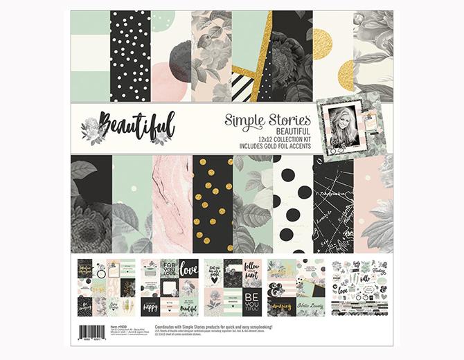 Набор бумаги 30х30 Beautiful от Simple Stories