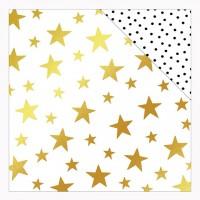 """Лист двусторонней бумаги с фольгированием Starry Night Joyful 12""""X12"""" от  My Minds Eye"""