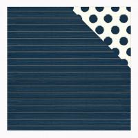 "Лист двусторонней бумаги с фольгированием  Stripe Blush 12""X12"" от  My Minds Eye"