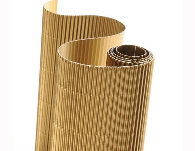 Картон гофрированный 50х70см золото