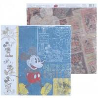 "Бумага для скрапбукинга  Old's cool ""Микки Маус"" 29,5х29,5 см"